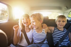minimize distractions while driving with kids