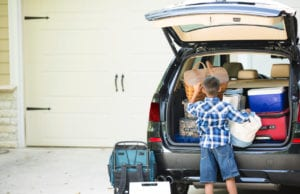 packing for a car road trip